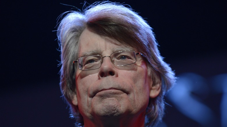 Stephen King frowning