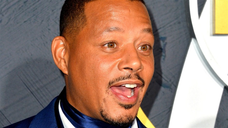 Terrence Howard with his mouth open