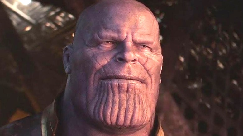 Thanos scowling