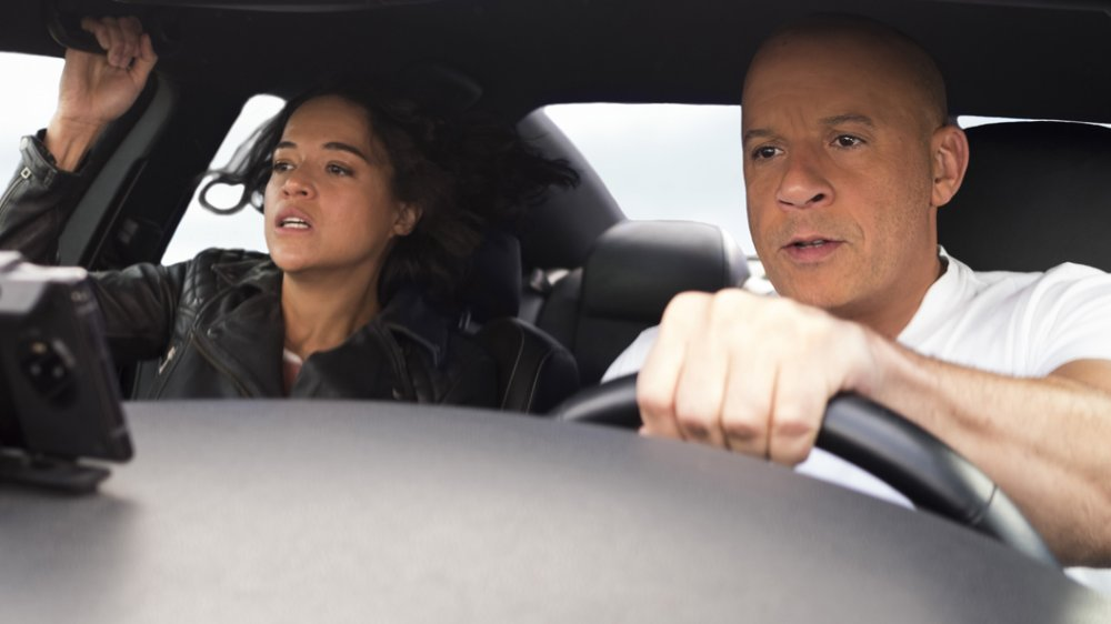 Vin Diesel and Michelle Rodriguez in Fast and Furious 9