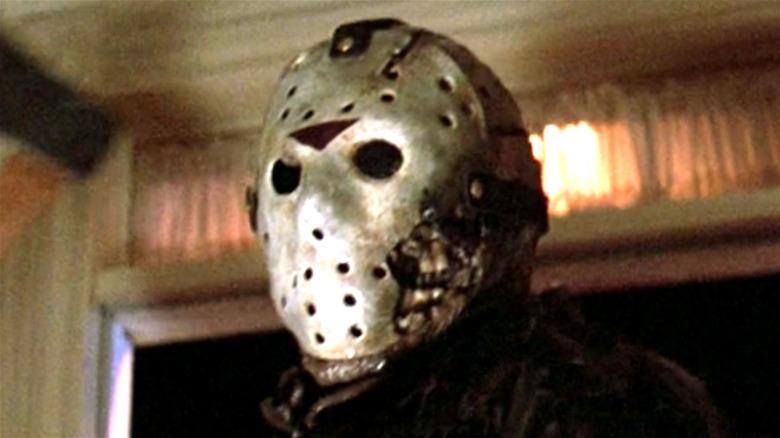 Jason Voorhees wearing hockey mask