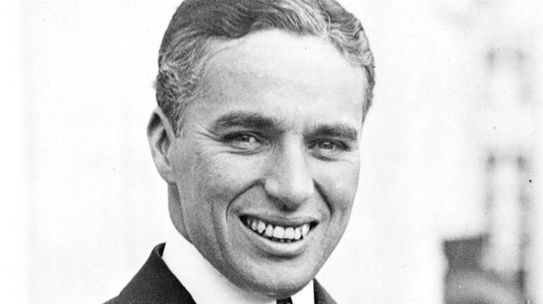Charlie Chaplin smiling