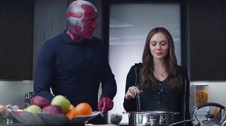 Wanda and Vision cooking