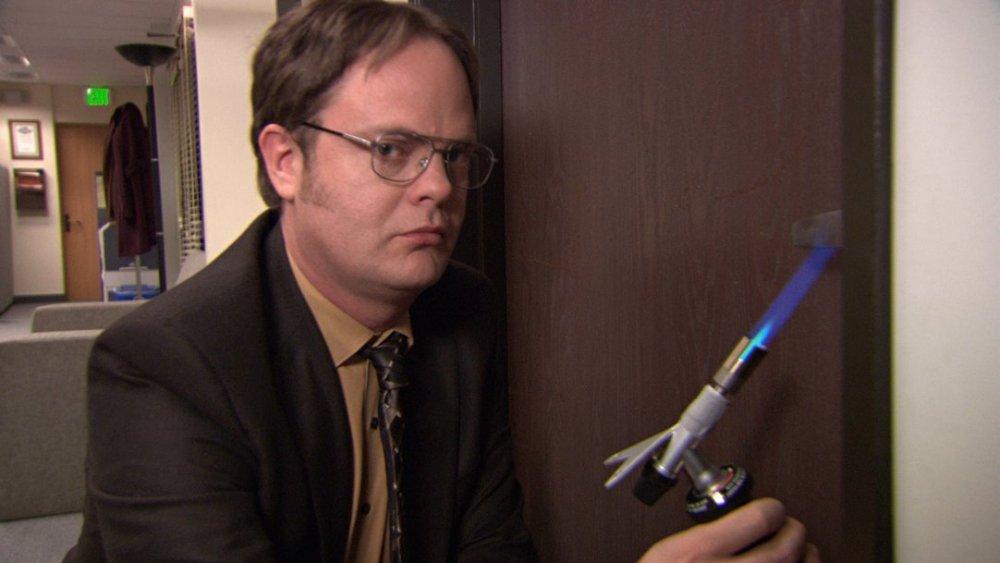 Rainn Wilson as Dwight Schrute The Office fire drill