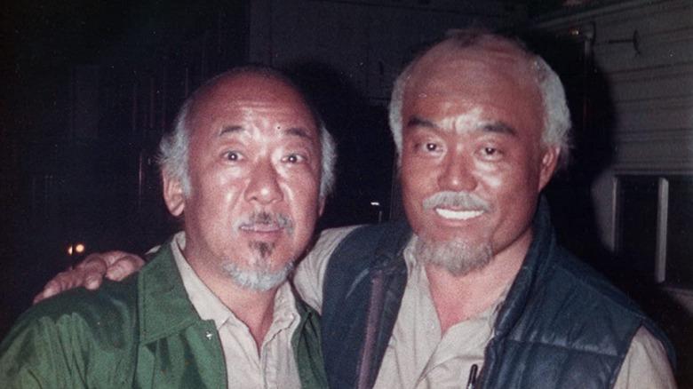 Pat Morita and Fumio Demura