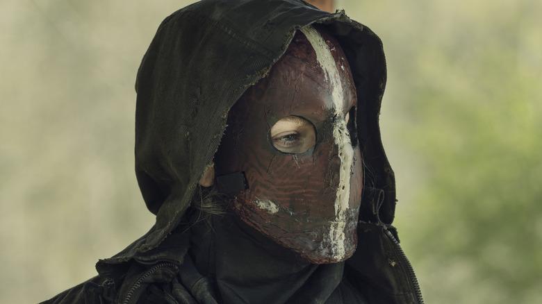 Leah's Reaper mask on The Walking Dead