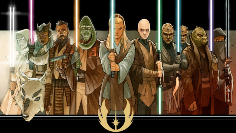 A lineup of Jedi from Star Wars: The High Republic
