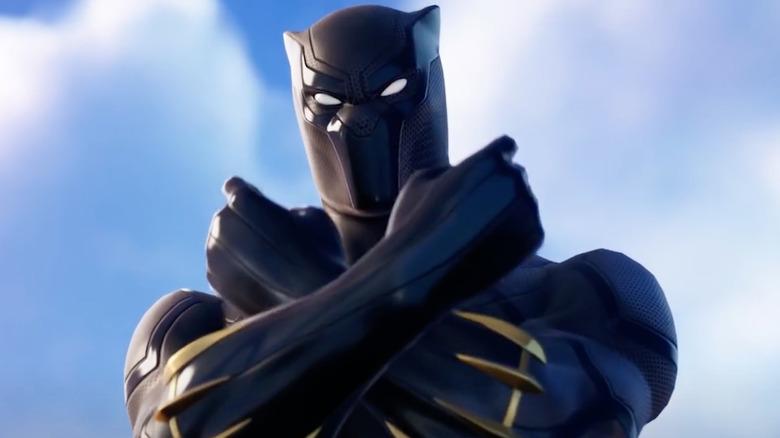 Black Panther salute Fortnite
