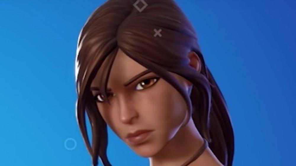 Lara Croft determined look