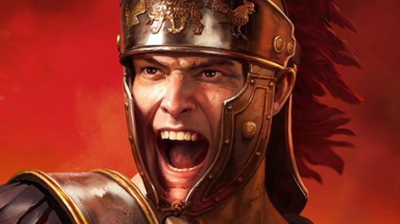 Roman soldier yelling