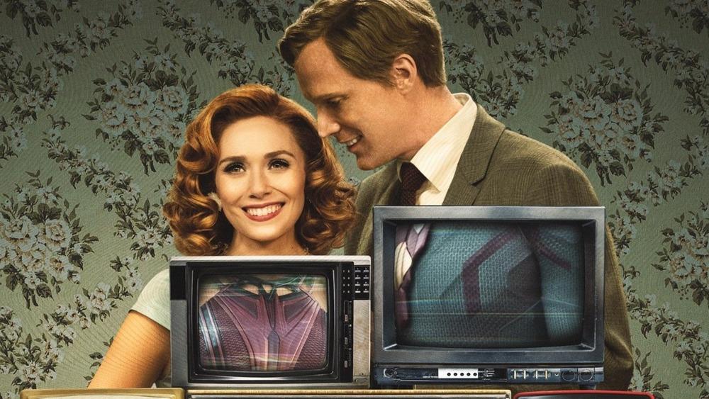 WandaVision poster with TVs
