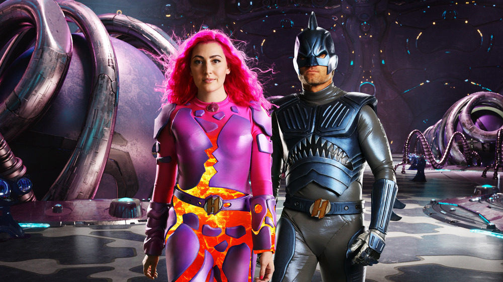 Lavagirl and Sharkboy stand ready for action