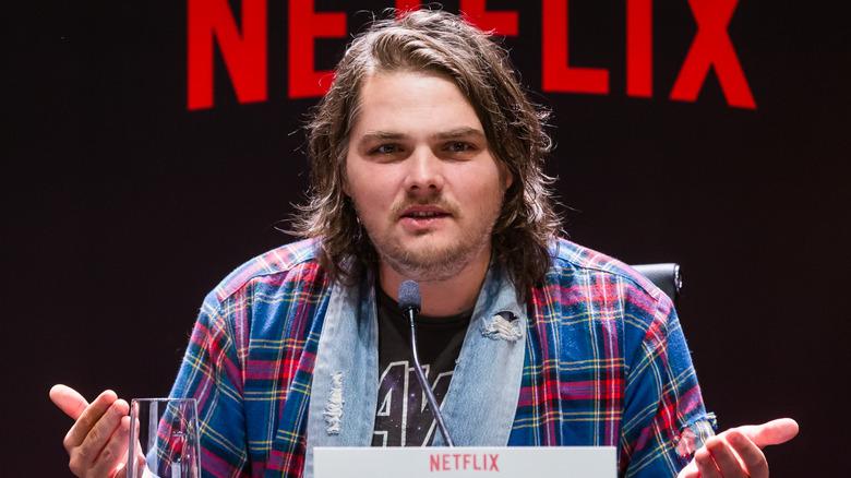 Gerard way at press conference