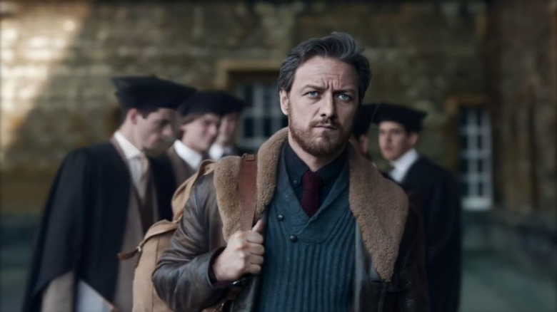 Lord Asriel (James McAvoy) leaves Oxford on His Dark Materials