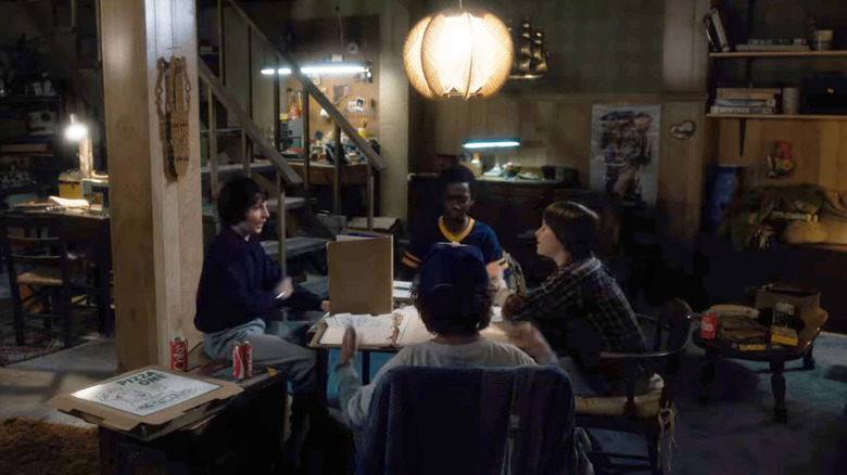 Stranger Things characters playing D&D