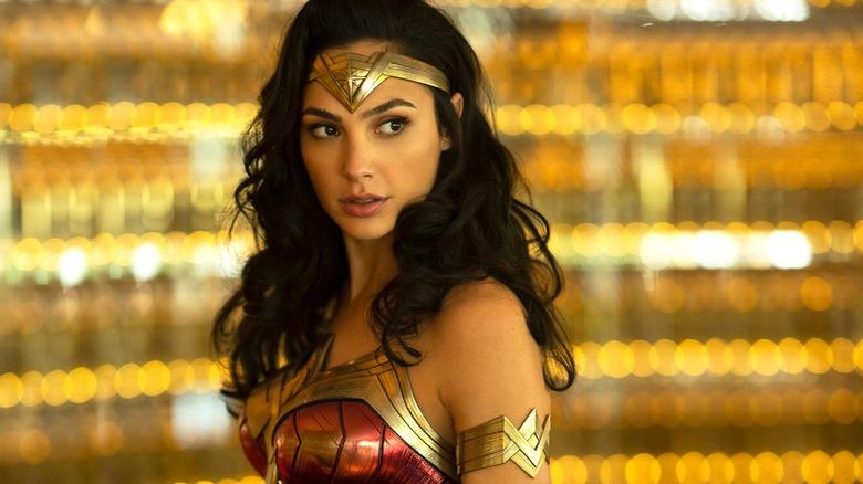 Wonder Woman looking sideways