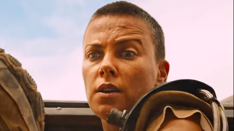 Charlize Theron as Furiosa in Mad Max Fury Road