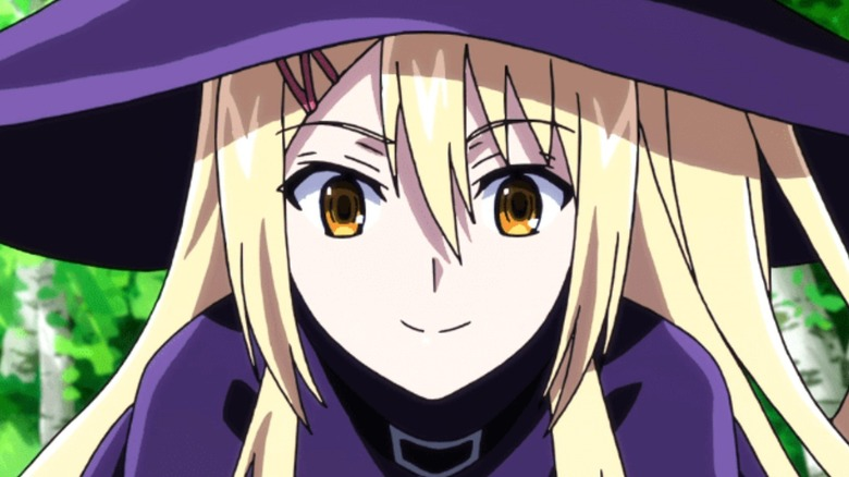 Shindo smiling in witch hat