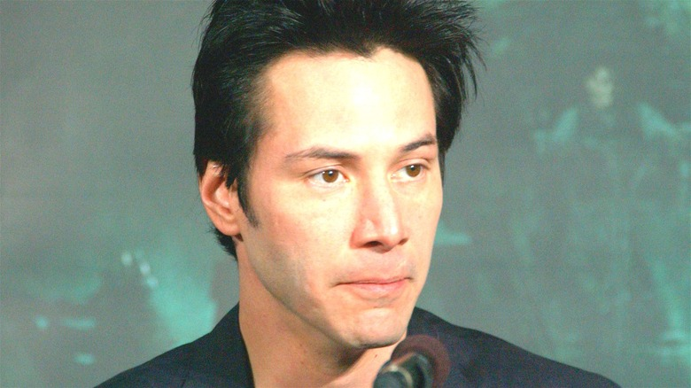 Keanu Reeves pursed lips