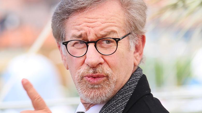 Steven Spielberg pointing