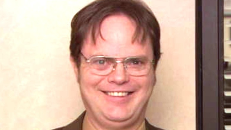 Dwight smiling on The Office