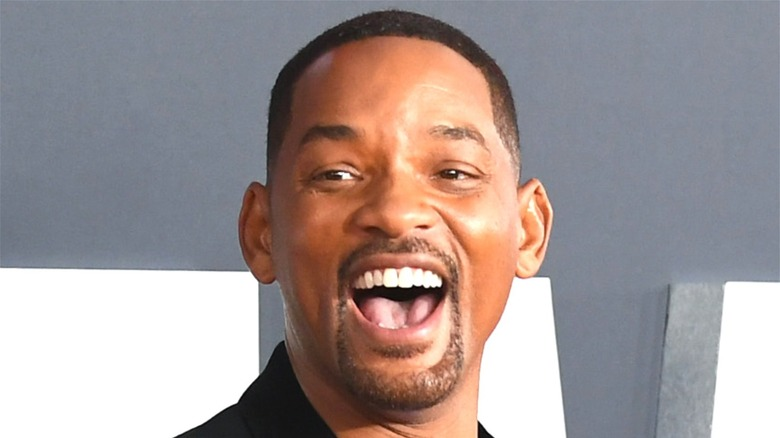 Will Smith open smile red carpet