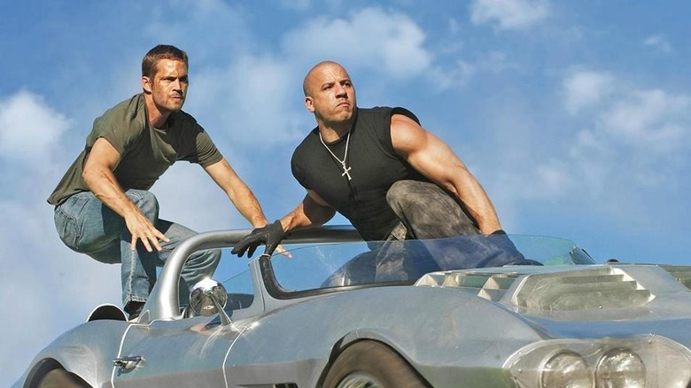 Brian and Dom in a car