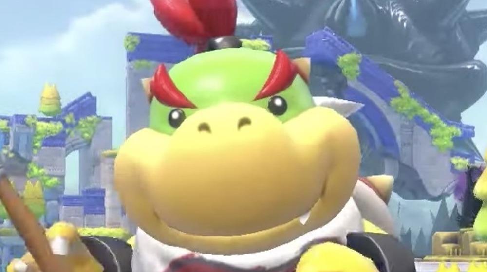 Bowser Jr. smiles