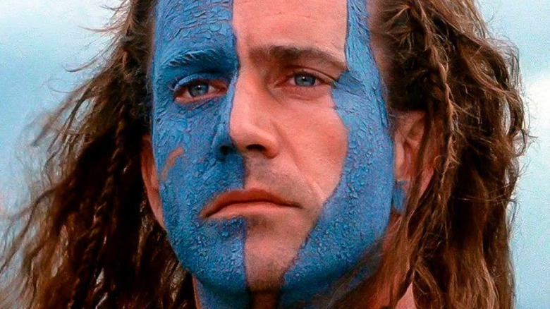Mel Gibson as William Wallace with war paint