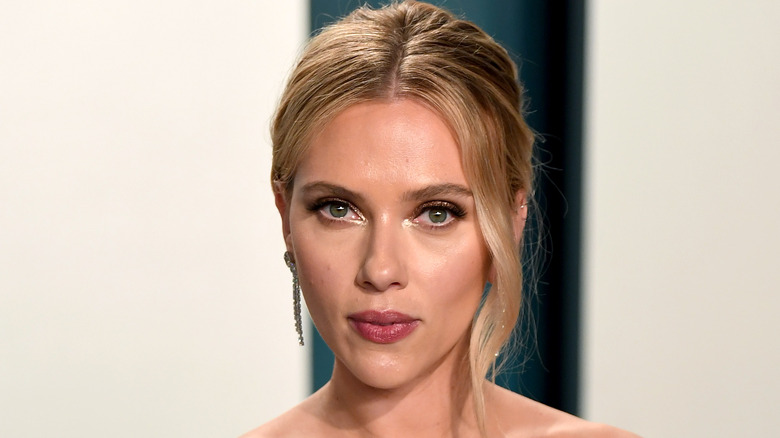 Scarlett Johansson with a neutral expression