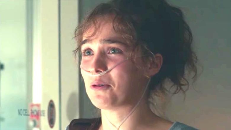Stella tearfully speaking