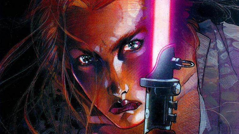 Mara Jade on cover of Star Wars: Mara Jade: By The Emperor's Hand by Timothy Zahn