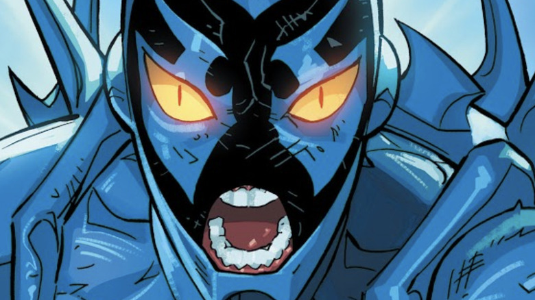 Jaime Reyes/Blue Beetle with a fierce expression