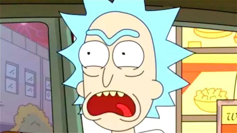 Rick Sanchez screaming for sauce