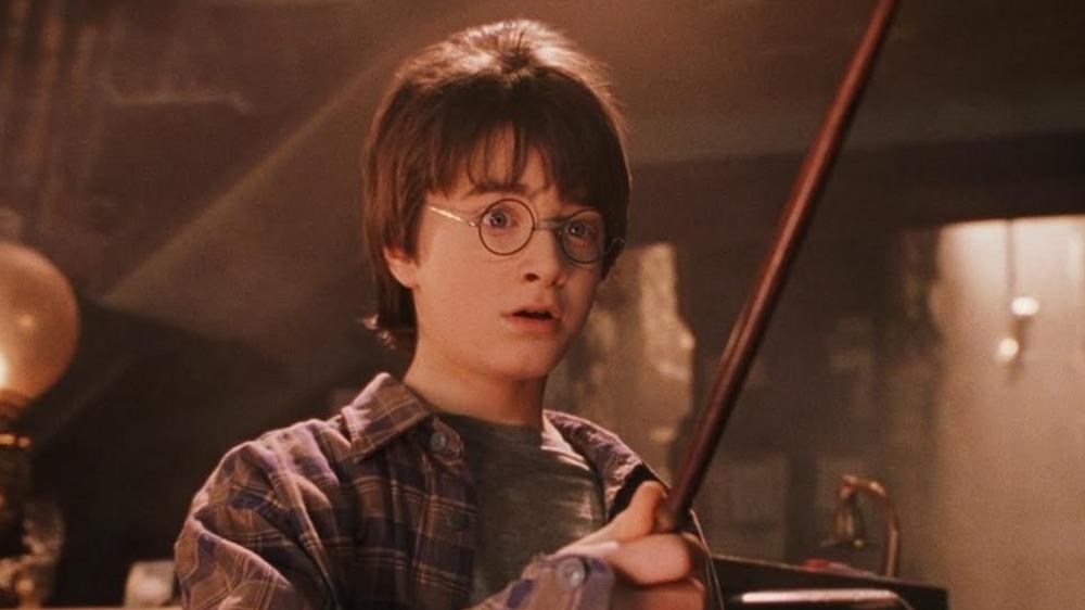 Harry Potter performing magic