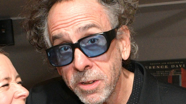 Tim Burton looking at camera