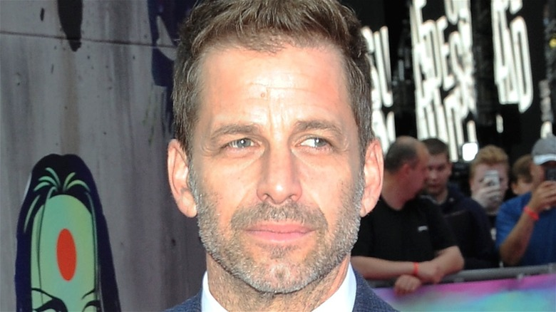 Zack Snyder with stubble on red carpet