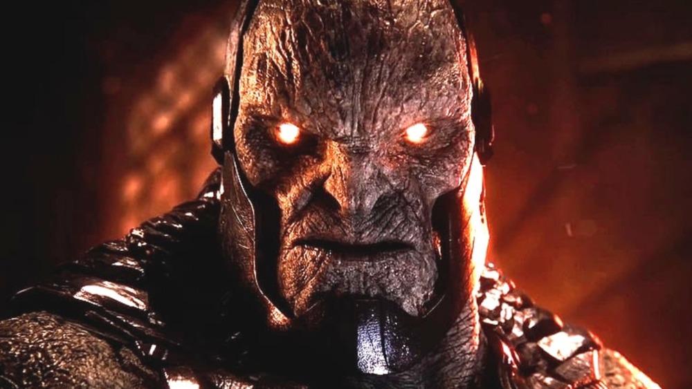 Darkseid glowing red eyes