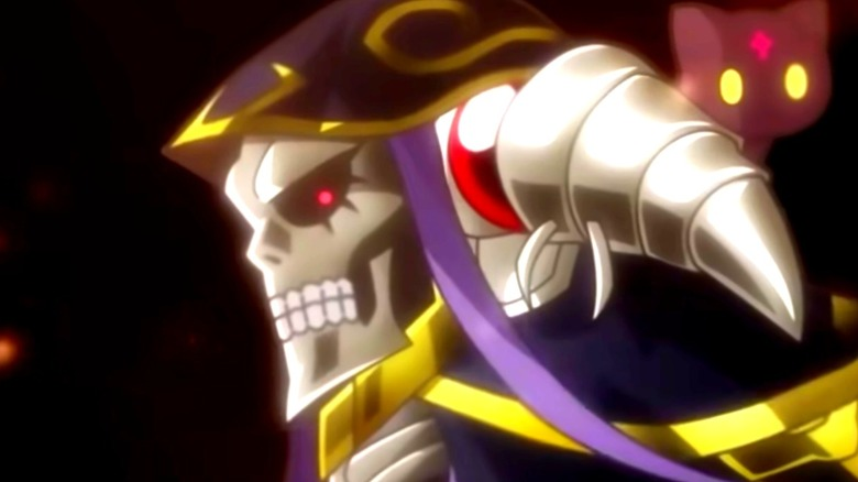 Ainz Ooal Gown appearing in chibi form for Isekai Quartet