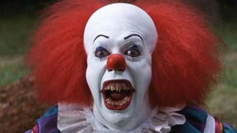 Pennywise with his mouth open