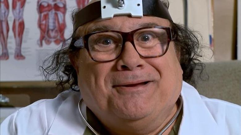 Frank smiling as Dr. Mantis Toboggan