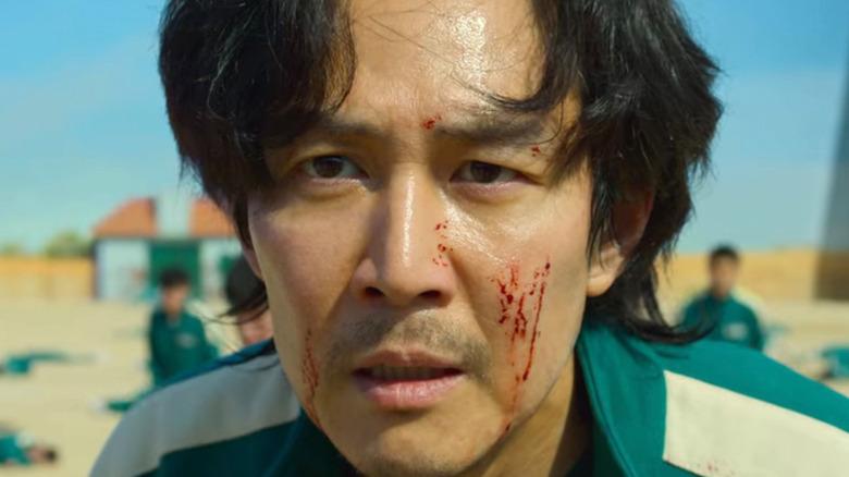 Seong Gi-Hun shocked blood on face