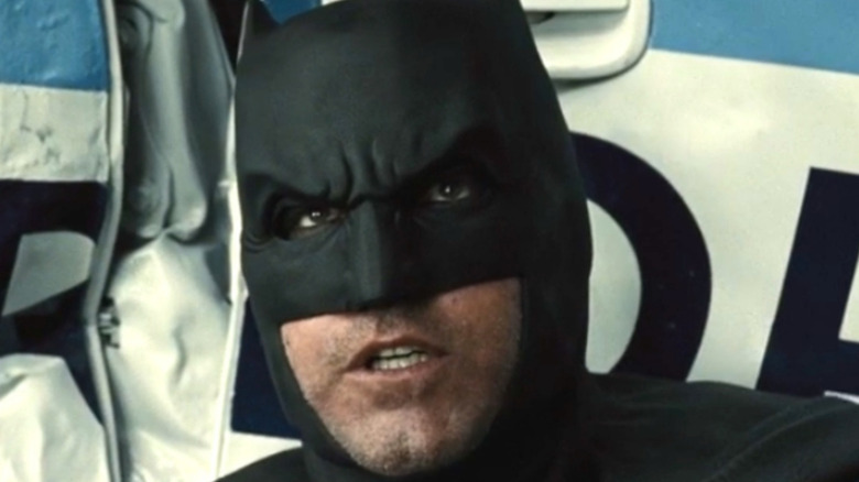Ben Affleck Batman police car