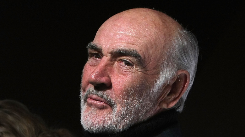 """Sir Sean Connery and Lady Connery attend the """"Dressed To Kilt"""" charity fashion show on March 30, 2009"""