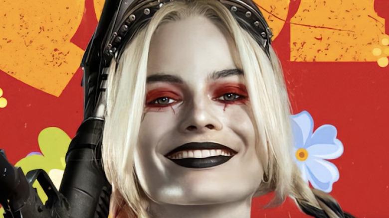 Margot Robbie as Harley Quinn smiling