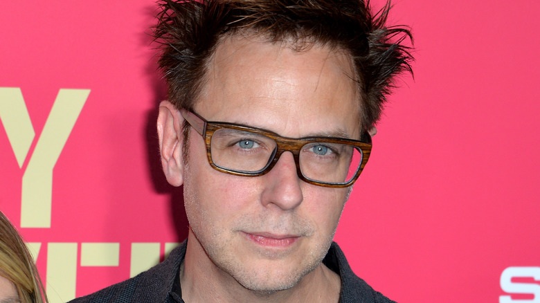James Gunn with pink background