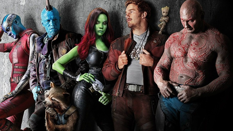 The cast of Guardians of the Galaxy in poster art for Vol. 2