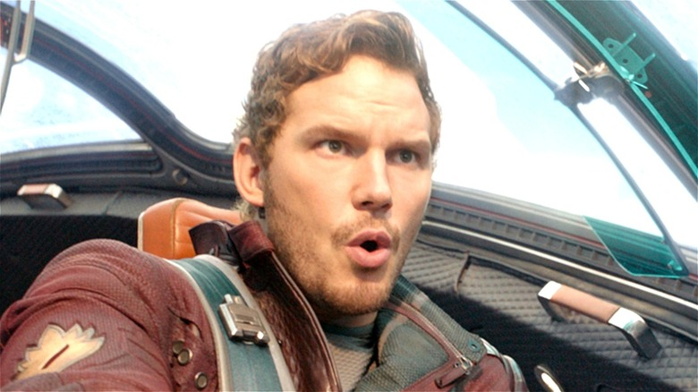 Peter Quill flying jet