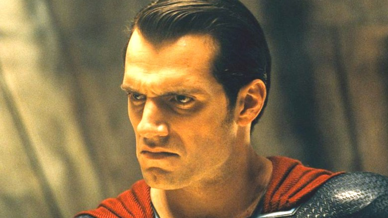 Henry Cavill as Superman looking angry