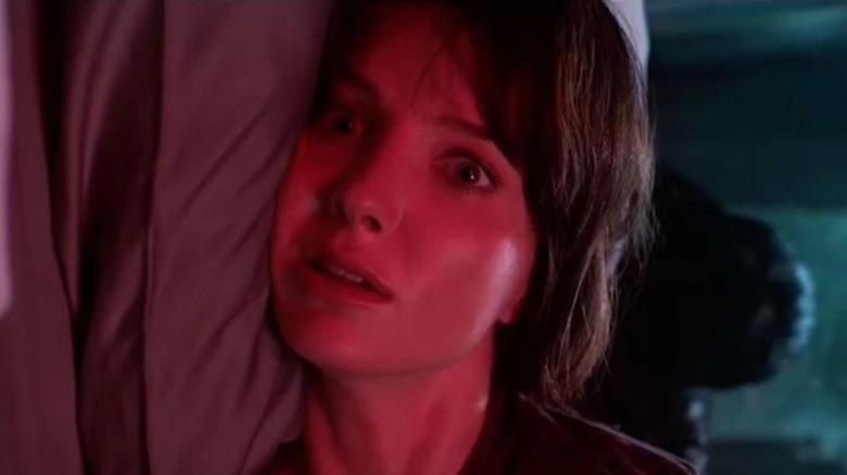Annabelle Wallis looking frightened